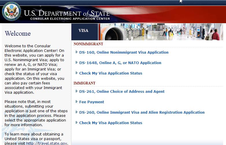 Consular Electronic Application Center USA